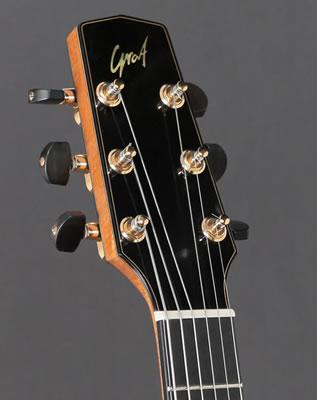 fine custom archtop guitars hand built by luthier oskar graf koa cutaway handcrafted. Black Bedroom Furniture Sets. Home Design Ideas